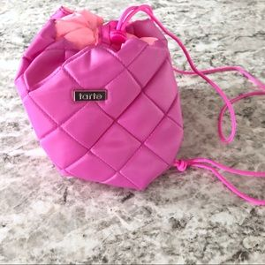Tarte Makeup Bag Pink Tarte Drawstring Makeup Bag